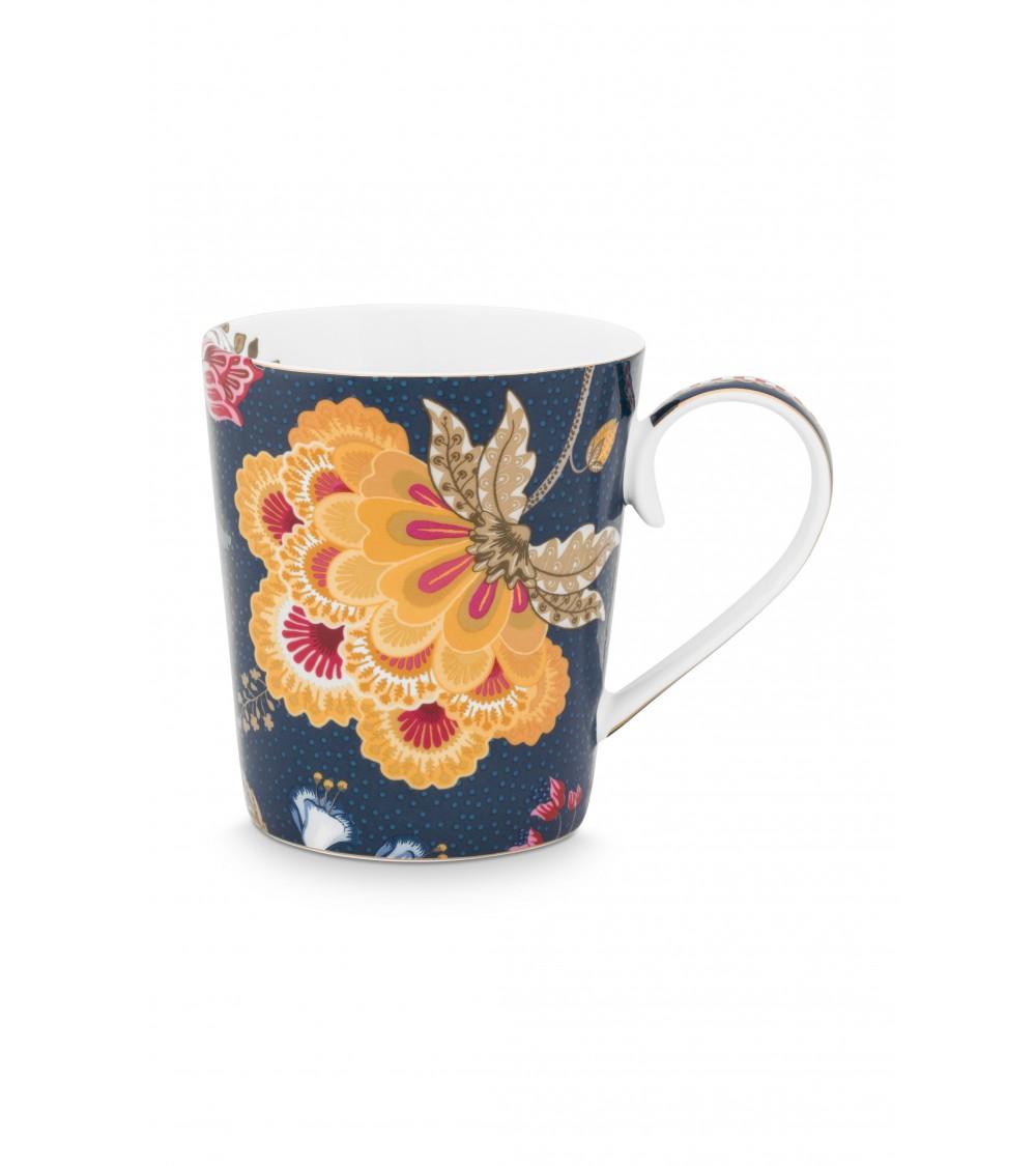 Κούπες με γράμματα -V- Floral Fantasy Μπλε 350ml
