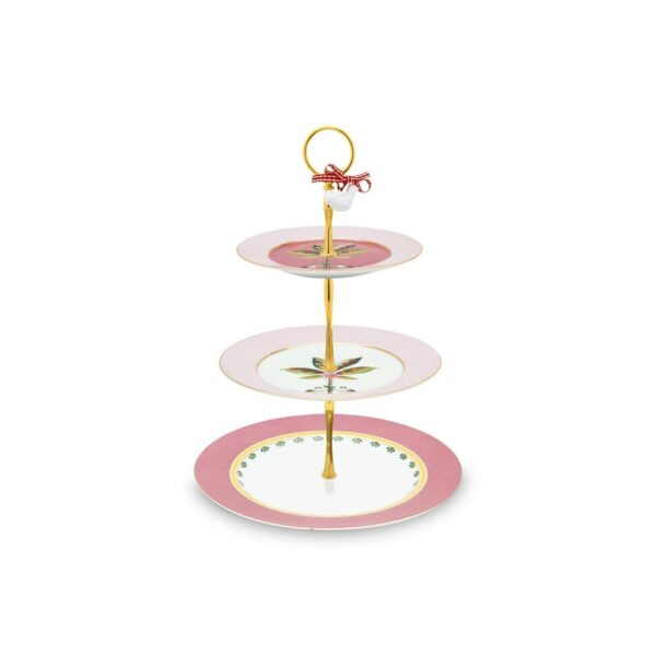 Τριώροφη Πιατέλα Πορσελάνης Pip Studio La Majorelle Pink 26,5cm