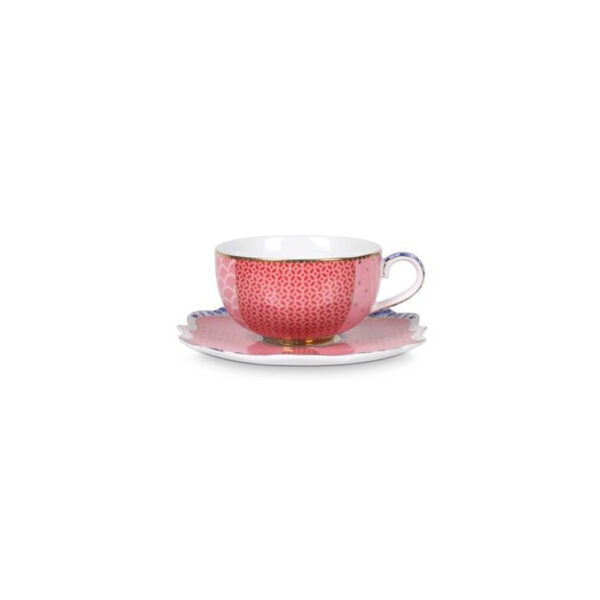 Espresso Cup and Saucer Royal Pink