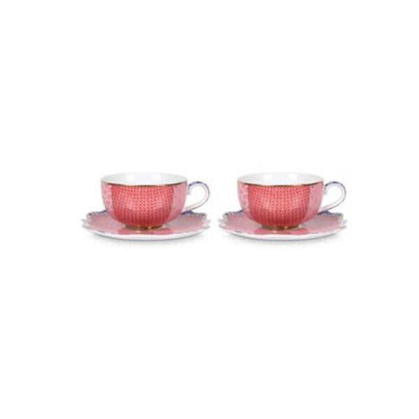 Σετ 2 Φλιτζάνια Espresso Πορσελάνης Pip Studio Royal Pink 125ml