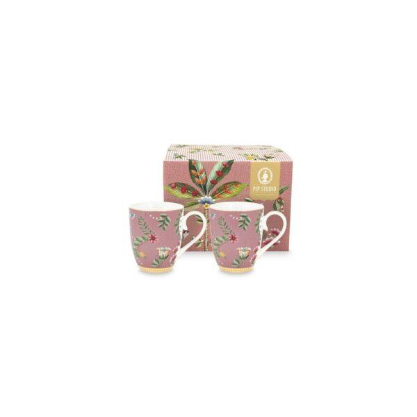 Σετ 2 Κούπες Πορσελάνης Pip Studio La Majorelle Pink 350ml