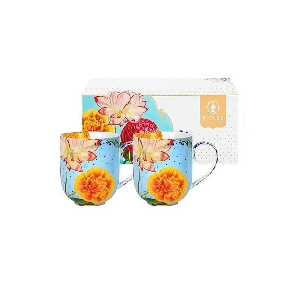 Σετ 2 Κούπες Πορσελάνης Pip Studio Royal Flowers 325ml