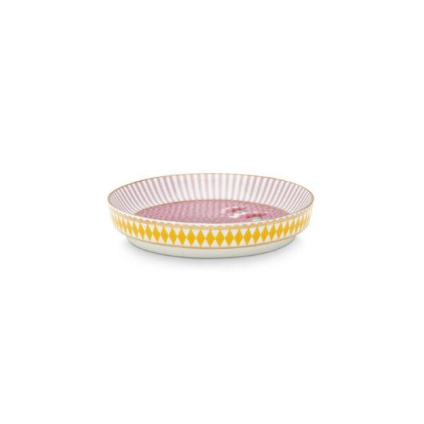 Πιατάκι τσαγιού Πορσελάνης Pip Studio La Majorelle 9cm ροζ
