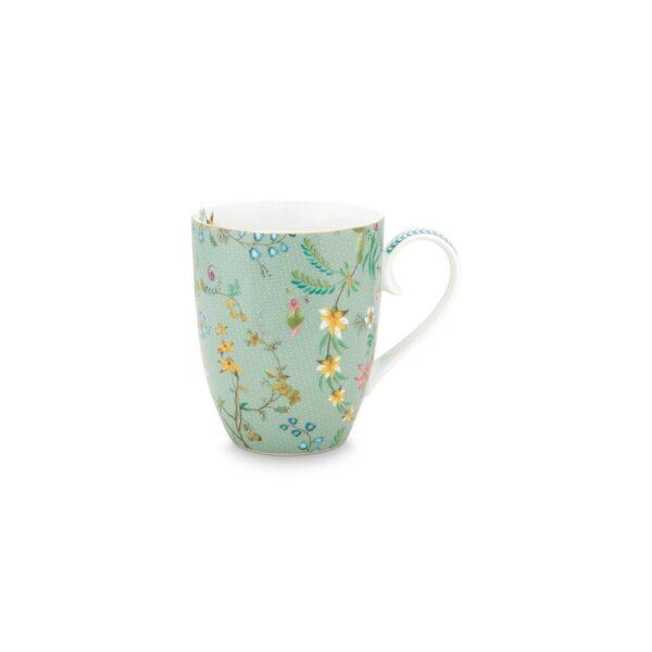 Μεγάλη Κούπα Πορσελάνης Pip Studio Jolie Flowers Blue 350ml