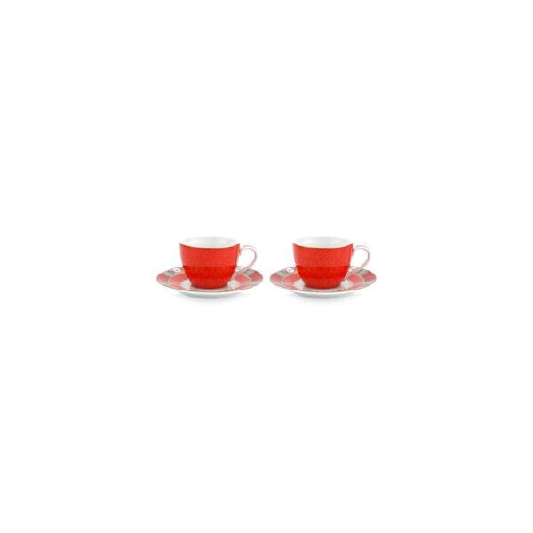 Σετ 2 Φλιτζάνια Espresso Pip Studio Blushing Birds red 120 ml