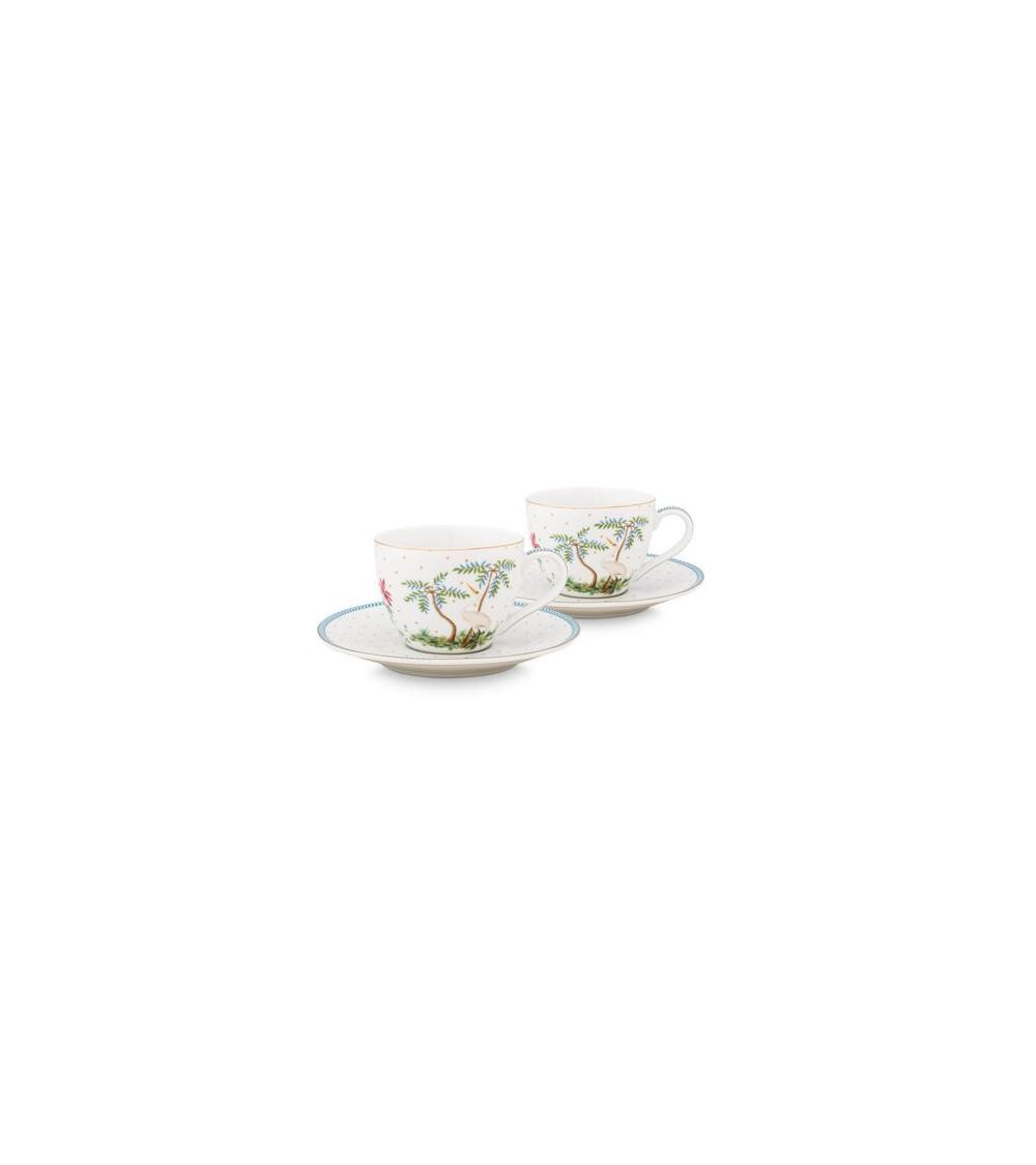 Σετ 2 Φλιτζάνια Espresso Πορσελάνης Pip Studio Jolie Dots Gold 120ml