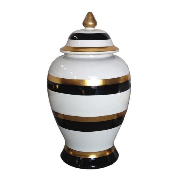 βάζο Λευκό-Ελεφαντόδοντο, Χρυσό, Μαύρο